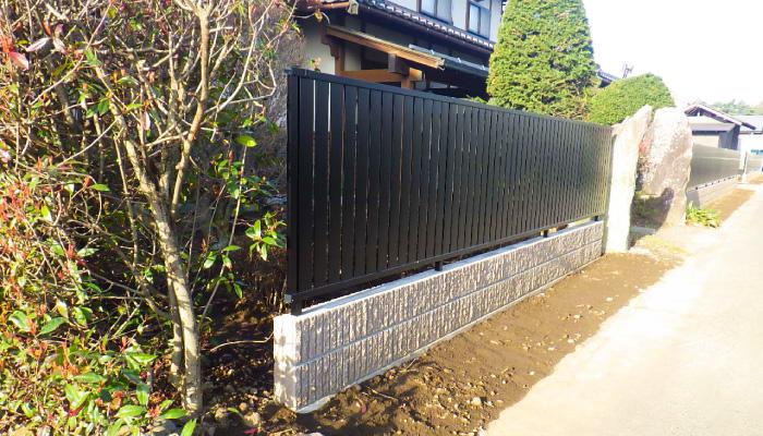 フェンスの施工 完成写真